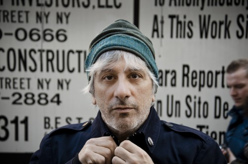 musician Lee Ranaldo, lower Manhattan.